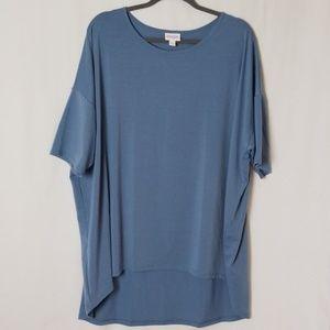 Luluaroe Blue high low blouse/ Tunic